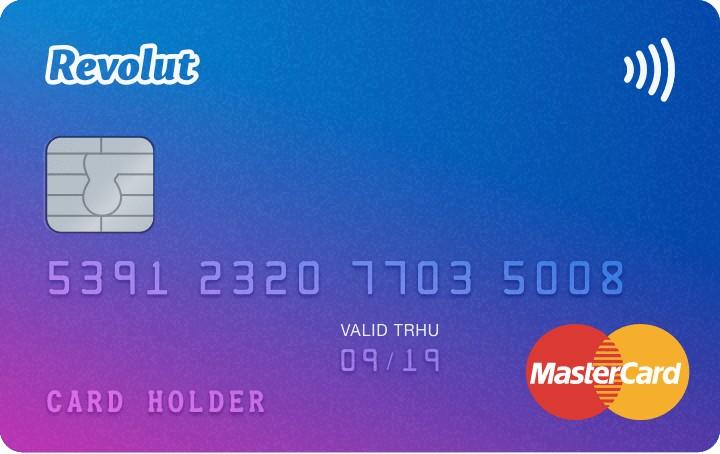 Carte bancaire gratuite Révolut Standard