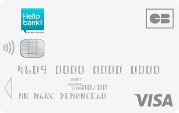 Visa: Carte bancaire gratuite Hello One.