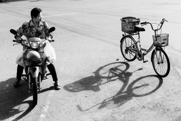 Moped and Bicycle - Nakhon Pathom, Thailand