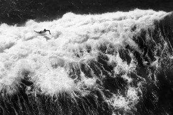 Surfing at Bondi by Ryan Pierse