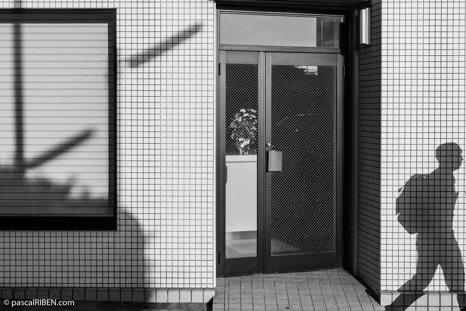 Shadow in Higashiosaka near Tokuan Station, Japan, 2019