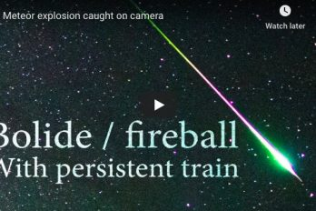 Timelapse and Astrophotography: Meteor Explosion Caught on Camera